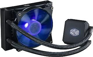 Cooler Master MasterLiquid LC120E RGB Close-Loop AIO CPU Liquid Cooler, 120mm Radiator, Dual Chamber RGB Pump, Dual MF120R RGB Fans w/RGB Lighting Sync for AMD Ryzen/Intel1151/2066
