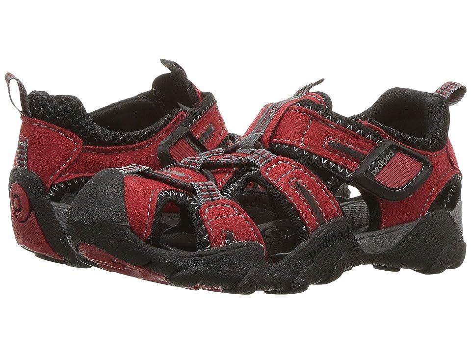 pediped Canyon Flex (Toddler/Little Kid/Big Kid) (Red/Black) Boys Shoes