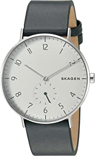 Skagen Aaren Green Leather Watch