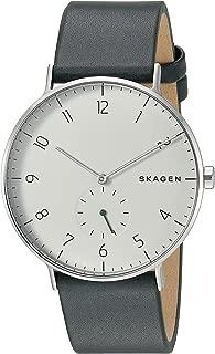 Skagen Aaren Green Leather Watch