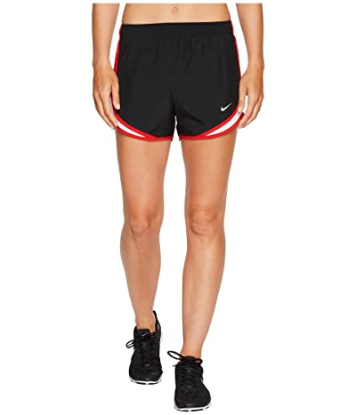 Nike Dry Tempo Short (Black/White/Sport Red/Wolf Grey) Women