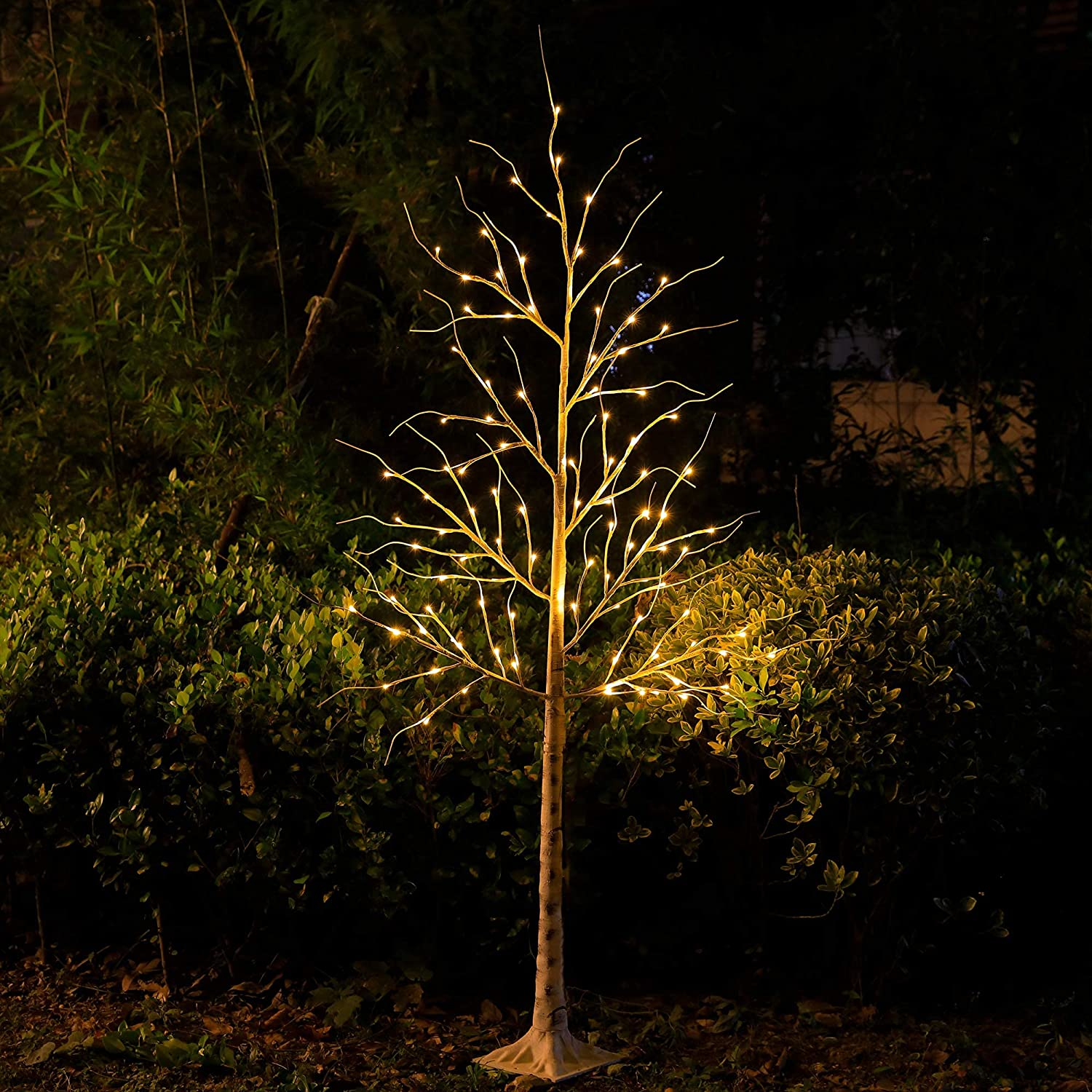 Snokip Lighted Birch Tree 6Ft Max 67% OFF for 96 Vale Twigs Popular brand in the world LED
