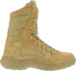 Womens Desert Tan Leather Tactical Boots Fusion Max 8in Military