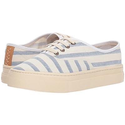 Soludos Platform Stripe Sneaker (Natural/Blue) Women