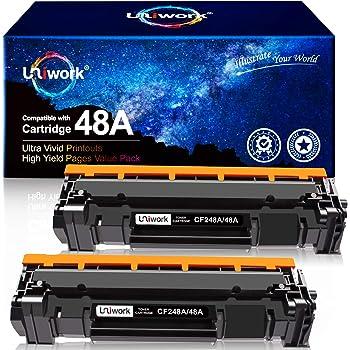 Uniwork Compatible Toner Cartridge Replacement for HP 48A CF248A use for LaserJet Pro M15w, LaserJet Pro M29w, MFP M28w, M28a, M29a M30w M31w M15a M16a M16w Printer Toner, 2 Black