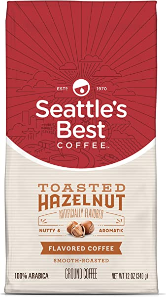 Seattle S Best Coffee Toasted Hazelnut Flavored Medium Roast Ground Coffee 12 Ounce Pack Of 1