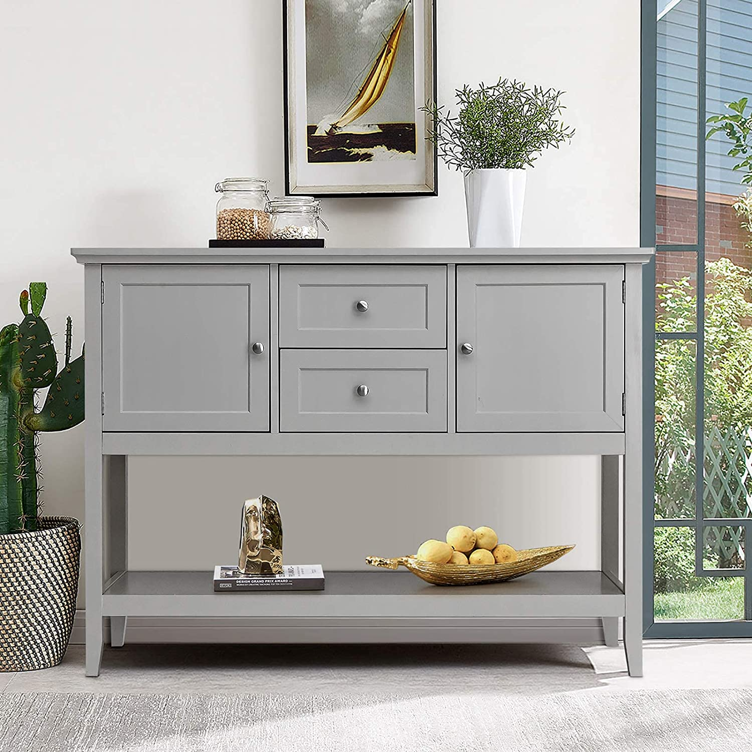 ReunionG Modern Buffet Sideboard Console w Ranking TOP6 Entryway Table Max 69% OFF Side