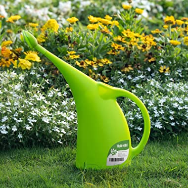 MyLifeUNIT Watering Can for Indoor Plants, Water Can with Shower Head, 1/2 Gallon (Green)