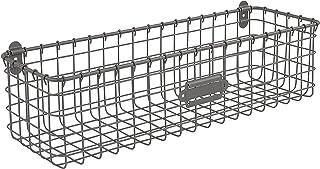 Spectrum Diversified Wall Mount Storage Basket, Steel, Industrial Gray
