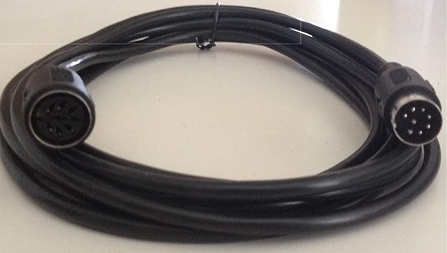 DIN 8 Pin Large Size DIN 25 Ft Black Extension Cable MIDI Size Male Female
