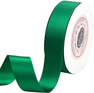 VATIN 1 inch Double Faced Polyester Satin Ribbon Forest Green - 25 Yard Spool, Perfect for Wedding, Wreath, Baby Shower,Packing and Other Projects.