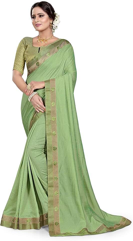 Indian Kasturi Fashion Women's Patola Georgette Sarees/plain Sarees with Designed border Saree