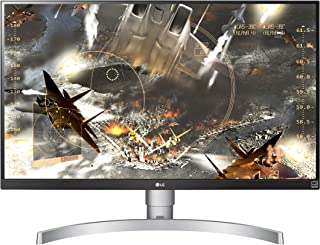 LG 27UL650-W 27-Inch 4K UHD LED Monitor with VESA DisplayHDR 400, Silver White