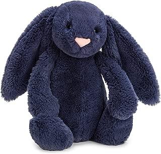 Jellycat Bashful Navy Bunny Stuffed Animal, Medium, 12 inches