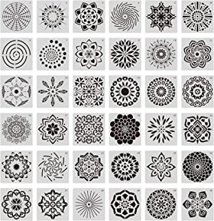 Mandala Stencils MEZOOM Mandala Dot Painting Templates Mandala Drawing Tools for Wood,Airbrush,Wall,Canvas DIY Painting Decor Art Craft Projects