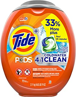 Tide Pods Coldwater Clean Liquid Laundry Detergent Pacs, Fresh Scent, 73 Count - MARKDOWN