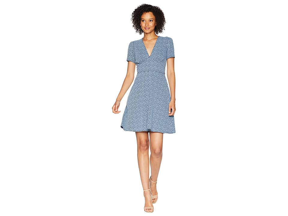 MICHAEL Michael Kors Tiny Wildflower Floral Dress (Chambray) Women