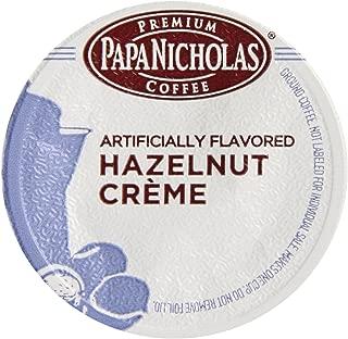 PapaNicholas Coffee Single Serve Coffee Cups Fits Keurig K Cup Brewers, Hazelnut Crème, 12 Count