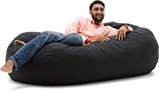 Big Joe Media Lounger Foam-Filled Beanbag Chair, Black