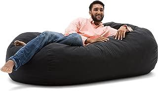 Big Joe Media Lounger Foam-Filled Beanbag Chair, Black
