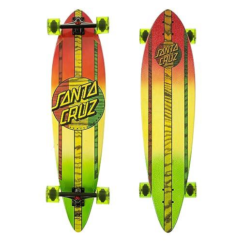 Santa Cruz Mahaka Rasta Fade Pintail Cruzer Complete Skateboard, Assorted, 39.0in L x