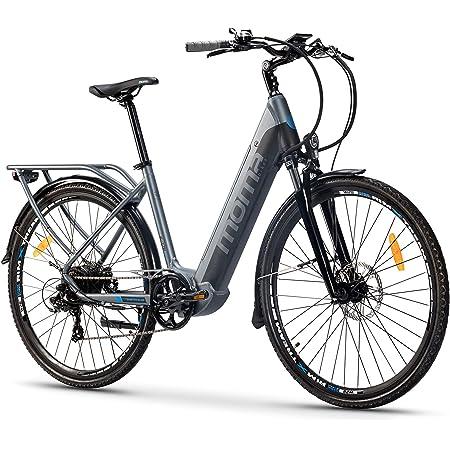 Moma Bikes Bicicleta Eléctrica Urbana EBIKE-28 Pro, Shimano 7vel, frenos hidráulicos, batería Integrada Litio 48V 13Ah (624Wh)