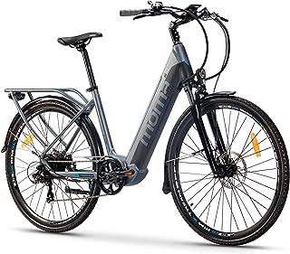 comprar comparacion Moma Bikes Bicicleta Eléctrica Urbana EBIKE-28 Pro, Shimano 7vel, frenos hidráulicos, batería Integrada Litio 48V 13Ah (62...