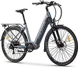 Moma Bikes Bicicleta Eléctrica Urbana EBIKE-28 Pro, Shimano