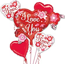 Anagram I Love You Flowers Bouquet of Balloons