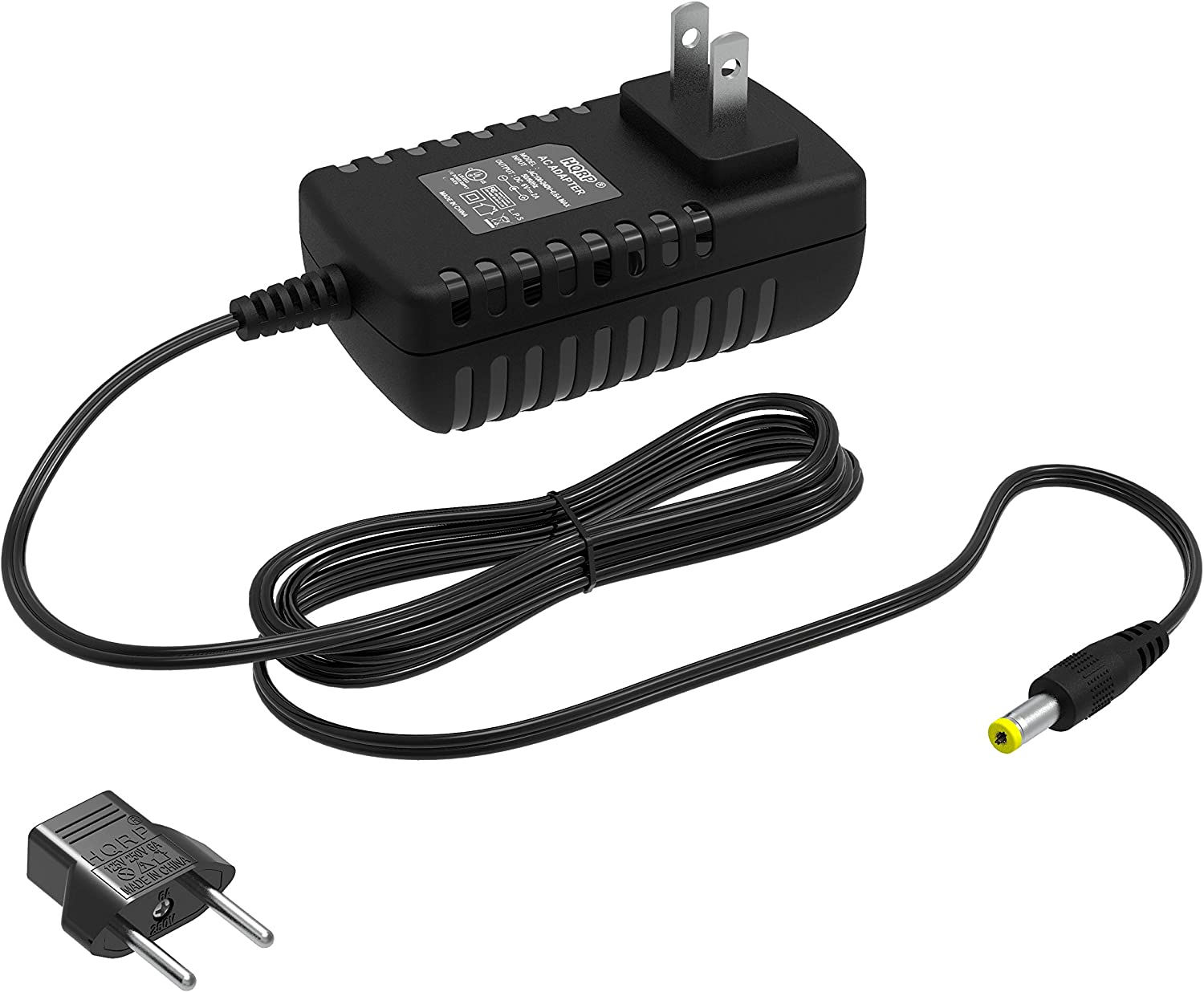 HQRP AC Adapter Compatible with PROFORM I Series 785 F Elliptical Exerciser PFEL579080 PFEL579081 PFEL579082 PFEL579089 Power Supply Cord [UL Listed] + Euro Plug Adapter