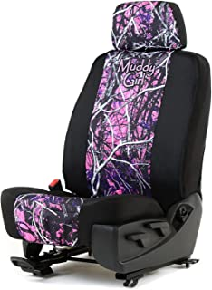 Outlaw Products Moonshine Muddy Girl Canvas Low Back Bucket Seat Cover W/Headrest Cover