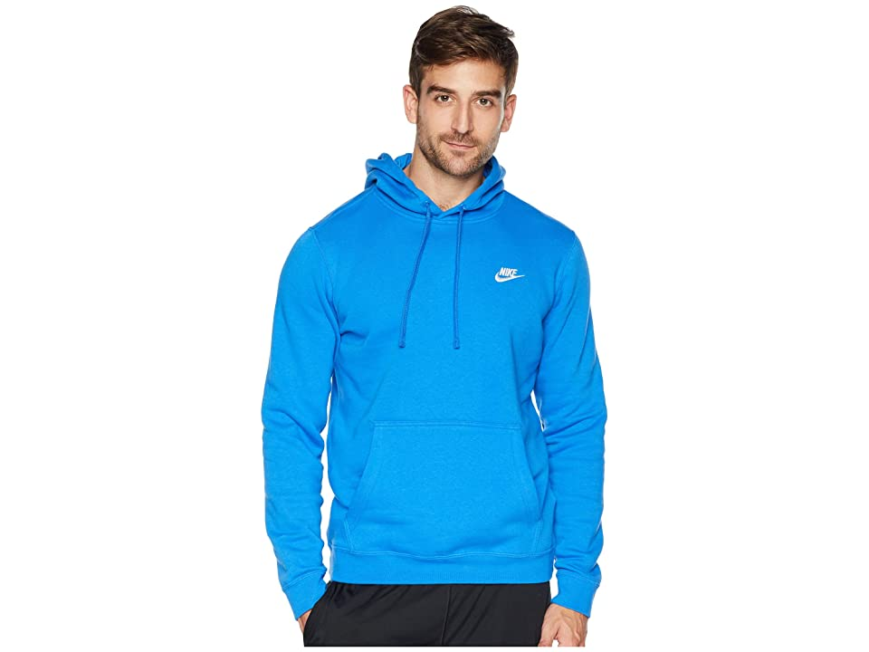 Nike Club Fleece Pullover Hoodie (Signal Blue/Signal Blue/White) Men