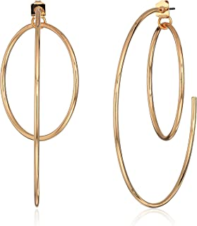GUESS Women's Hoop Earrings With Inside Ring, Rose Gold, One Size