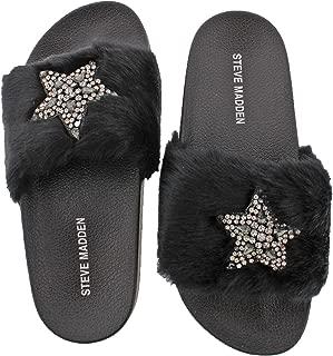 Womens Shimmer Embellished Casual Slide Sandals