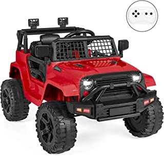 Best Choice Products 12V Kids Ride On Truck Car w/Parent Remote Control, Spring Suspension, LED Lights - Red