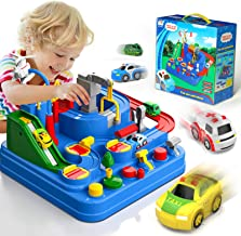 Lucky Doug Race Car Tracks for Boys, Car Adventure Toys with 4 Mini Car 6 Buttons for 3 4 5 6 7 Years Old Boys Girls, Manu...