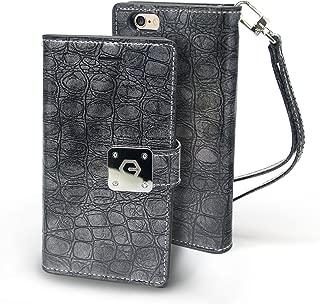 iPhone 7 Case, Arium [Sapphire Blue] Premium Wallet Case PU Leather Diary Cover + Wrist Strap Lanyard for Apple iPhone 7 - Dark Gray