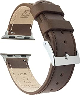 Barton Top Grain Leather Watch Bands Compatible with All Apple Watch Models - Series 5, 4, 3, 2 & 1 - Size 38mm, 40mm, 42m...