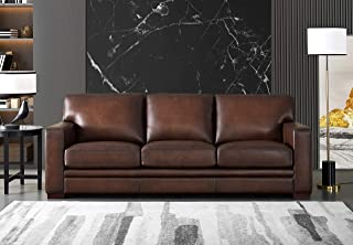 Hydeline Dillon 100% Leather Sofa Set (Sofa, Brown)