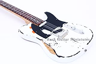 RGM253 Rick Parfitt Status Quo Aged Miniature Guitar Including Leather Guitar Strap with FREE Keyring Guitar