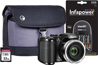 Kodak PIXPRO AZ252 Bridge-Kamera inkl. 4 AA-Batterien, 32 GB SD, Tasche und Ladegerät
