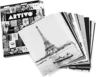 ARTIVO Black White Wall Collage Kit Aesthetic Pictures 50 Set 8x10 inches, City Chic Wall Decor for Teen Girls, Wall Art P...