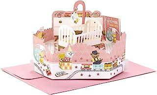 Hallmark Paper Wonder Pop Up Baby Shower Card For Baby Girl (Nursery)