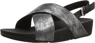 Fitflop Women Lulu Cross Back-Strap Shimmer Open Toe Sandals
