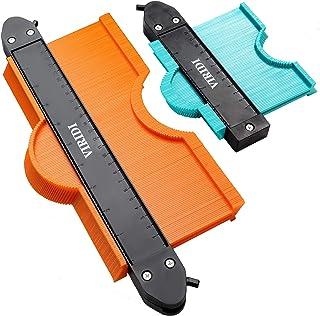 Jauge de Contour Verrouillable, VIRIDI 2pcs 25cm et 12cm Copieur de Profil Contours Outils Menuiserie Bricolage Carrelage ...