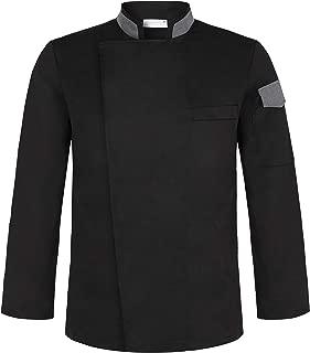 Men's Stylish Unisex Chef Uniforms Long Sleeve Coat Jacket