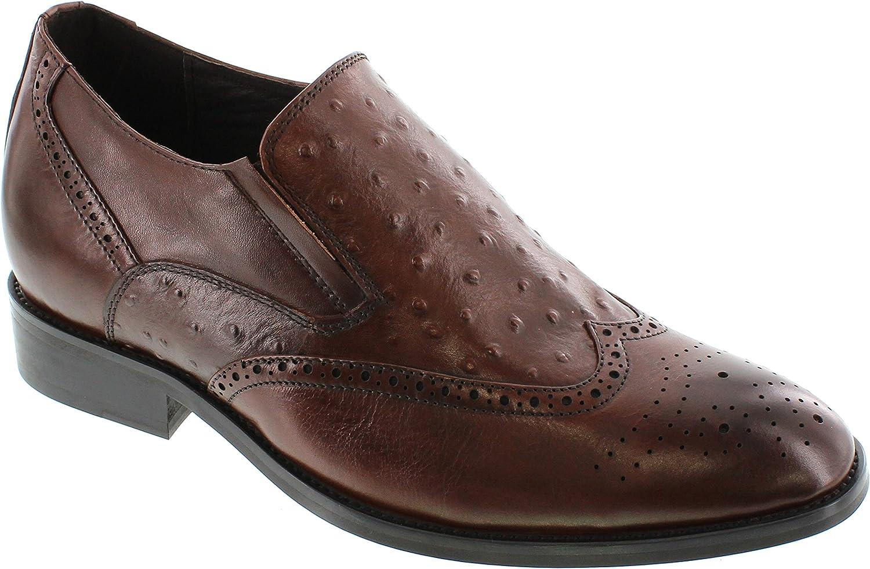 Calden k62623–7,1cm Grande Taille Hauteur AugHommester Chaussures ascenseur (Marron à Enfiler en Cuir Bas)