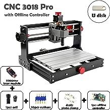 Mostics CNC 3018 Pro with 5.5W laser module CNC Laser engraver CNC carving machine PCB PVC Wood router Milling machine CNC Laser engraving machine XYZ:300x180x45 (CNC 3018 Pro, with 5.5W laser module)