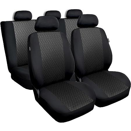 Universal Grau Polyester Jaquard Sitzbezüge Komplettset Sitzbezug Für Auto Sitzschoner Set Schonbezüge Autositz Autositzbezüge Sitzauflagen Sitzschutz Profi Auto