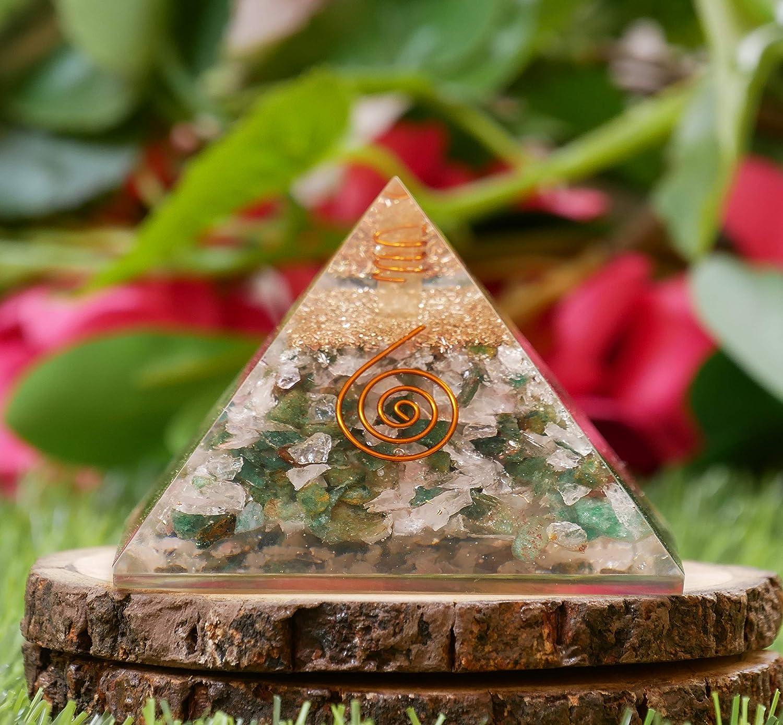 Red Onyx Black Tourmaline Orgone Pyramid Reiki Healing Tree Of Life Symbol Aura Crystal Cleansing Chakra Balancing Emf Protection Energy Chakras Stones Feng Shui Home Decor Prosperity Wealth Good Luck
